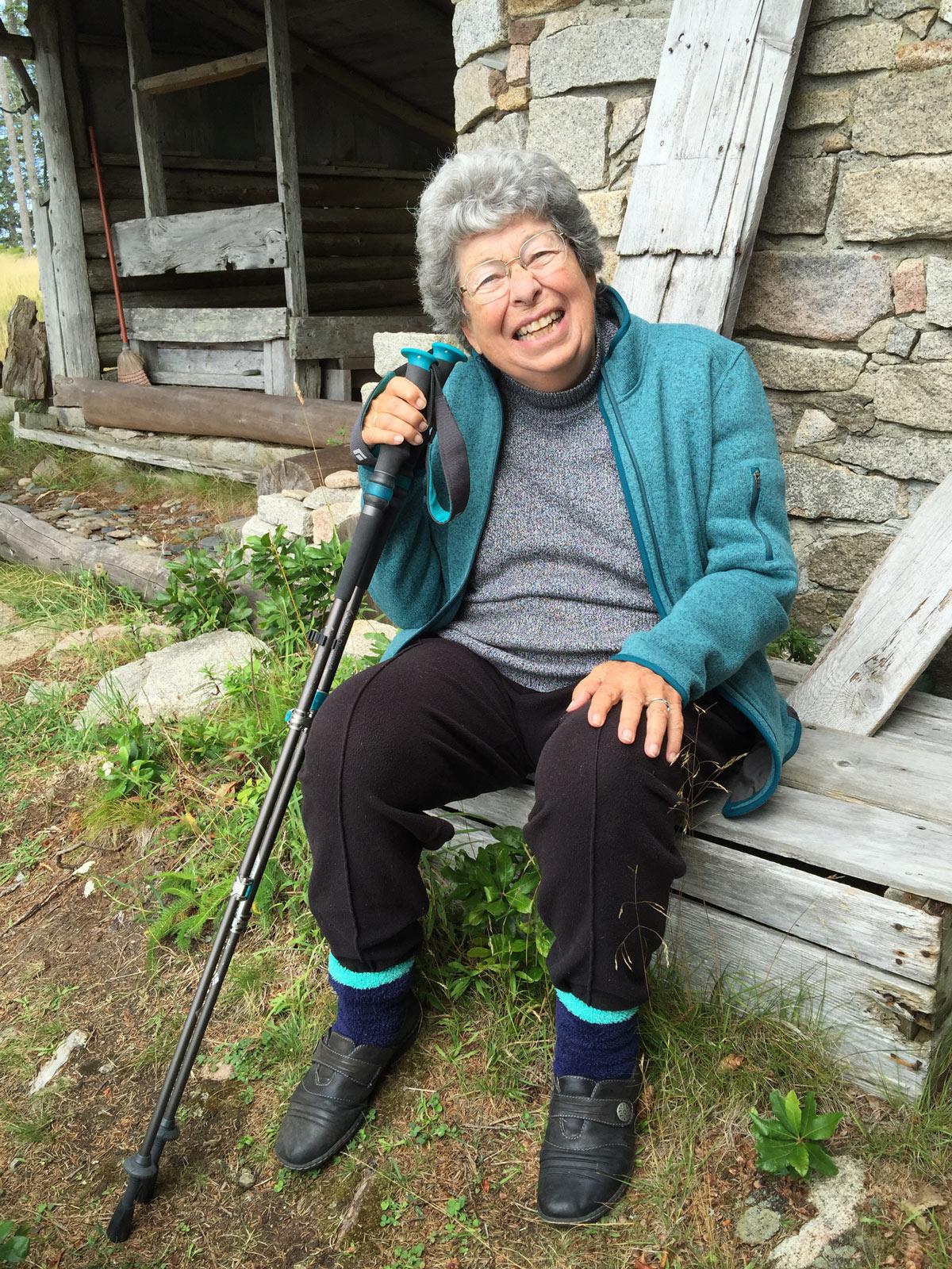 Elder resting Grandie Maine