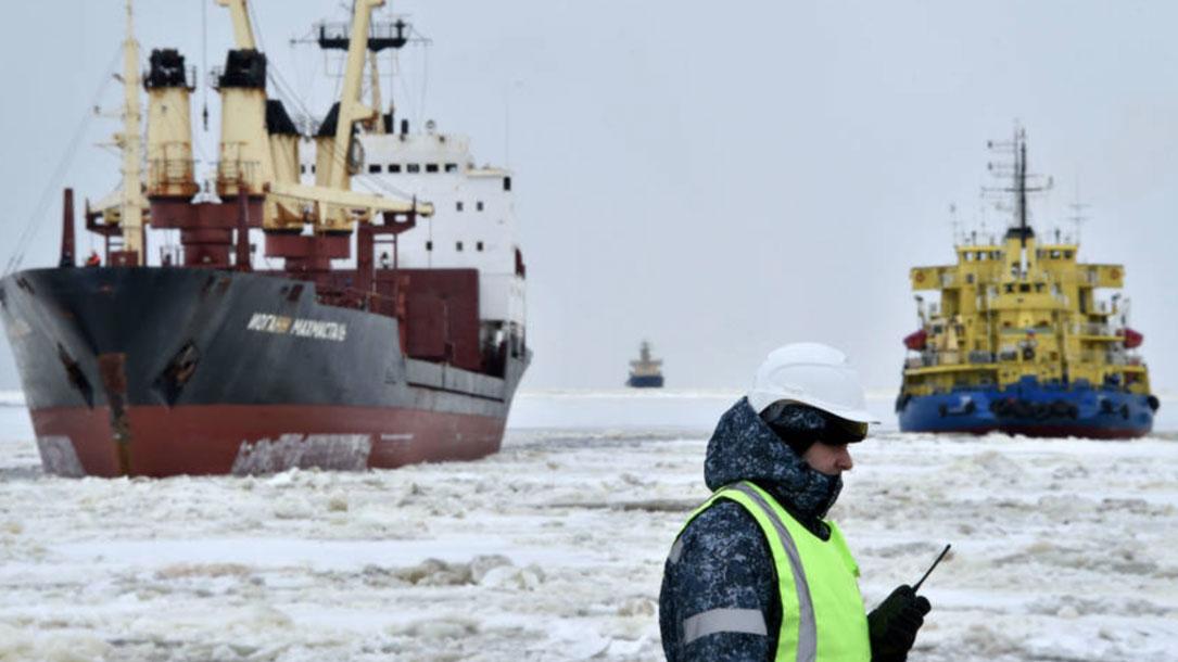 Ships Enter Russias Kara Sea Port Of Sabetta