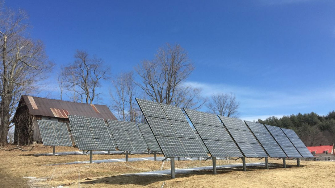 Solar Panels In Early Spring