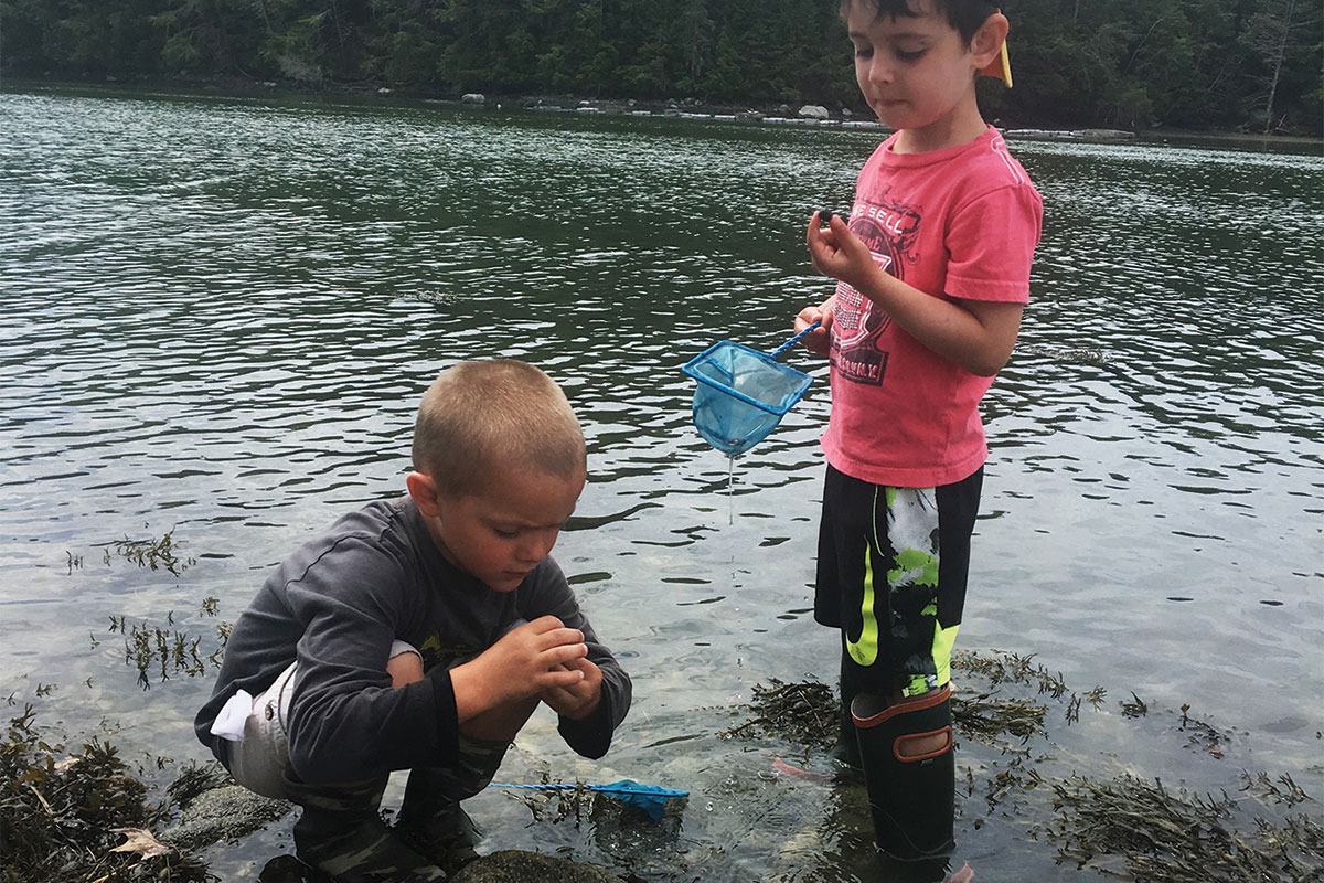 inspecting river finds