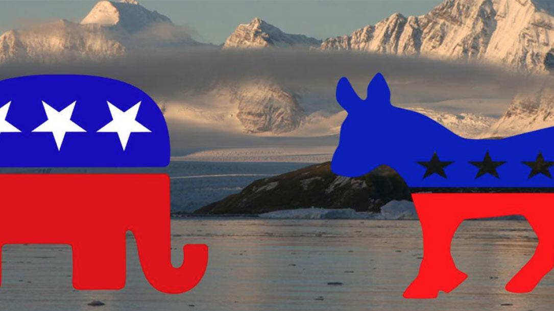 Donkey And Elephant With Mountain Backdrop
