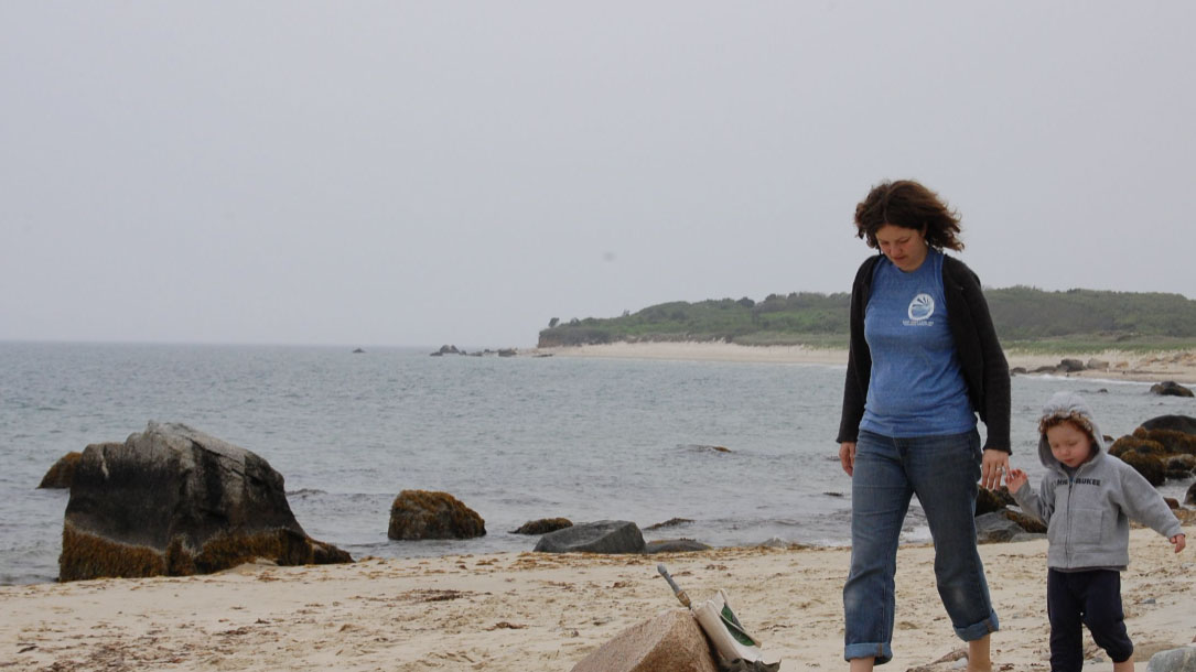 Mother Child East Coast Beach
