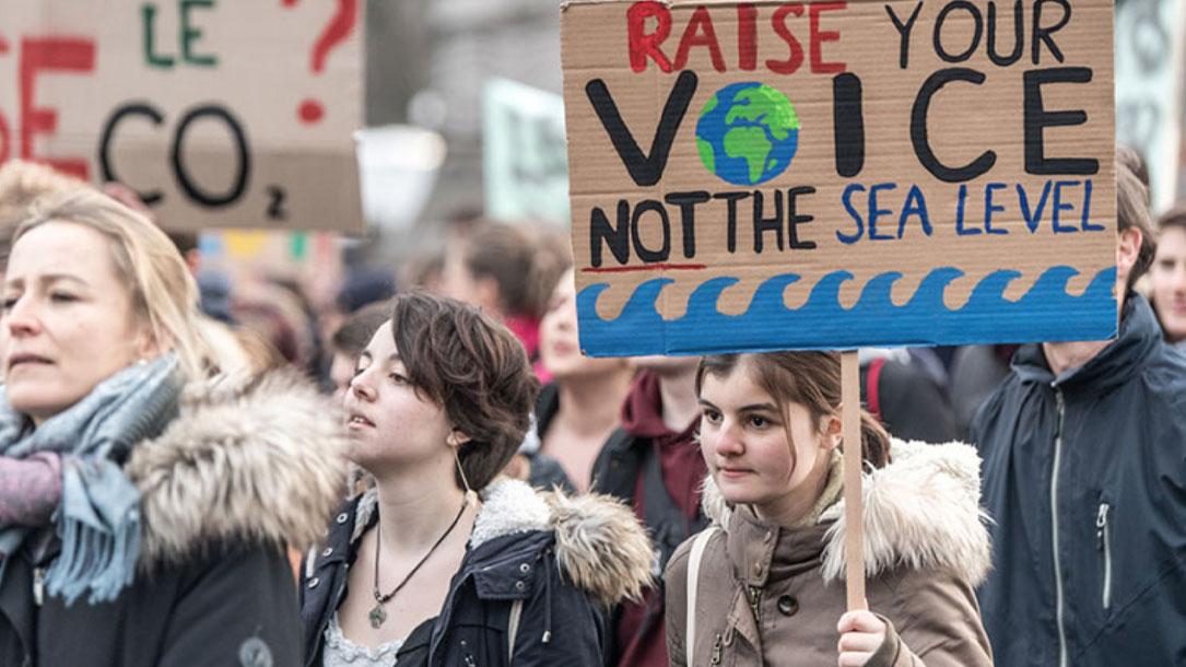 Raise Your Voice Not The Sea Level Protest Sign
