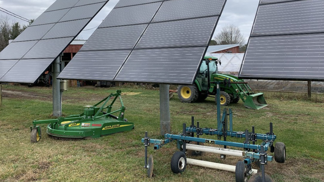 Solar Panels And Tractor